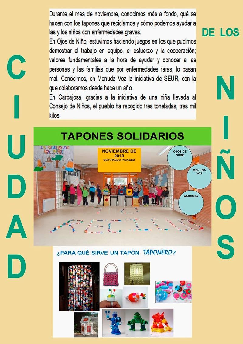 Tapones solidarios nov.2013