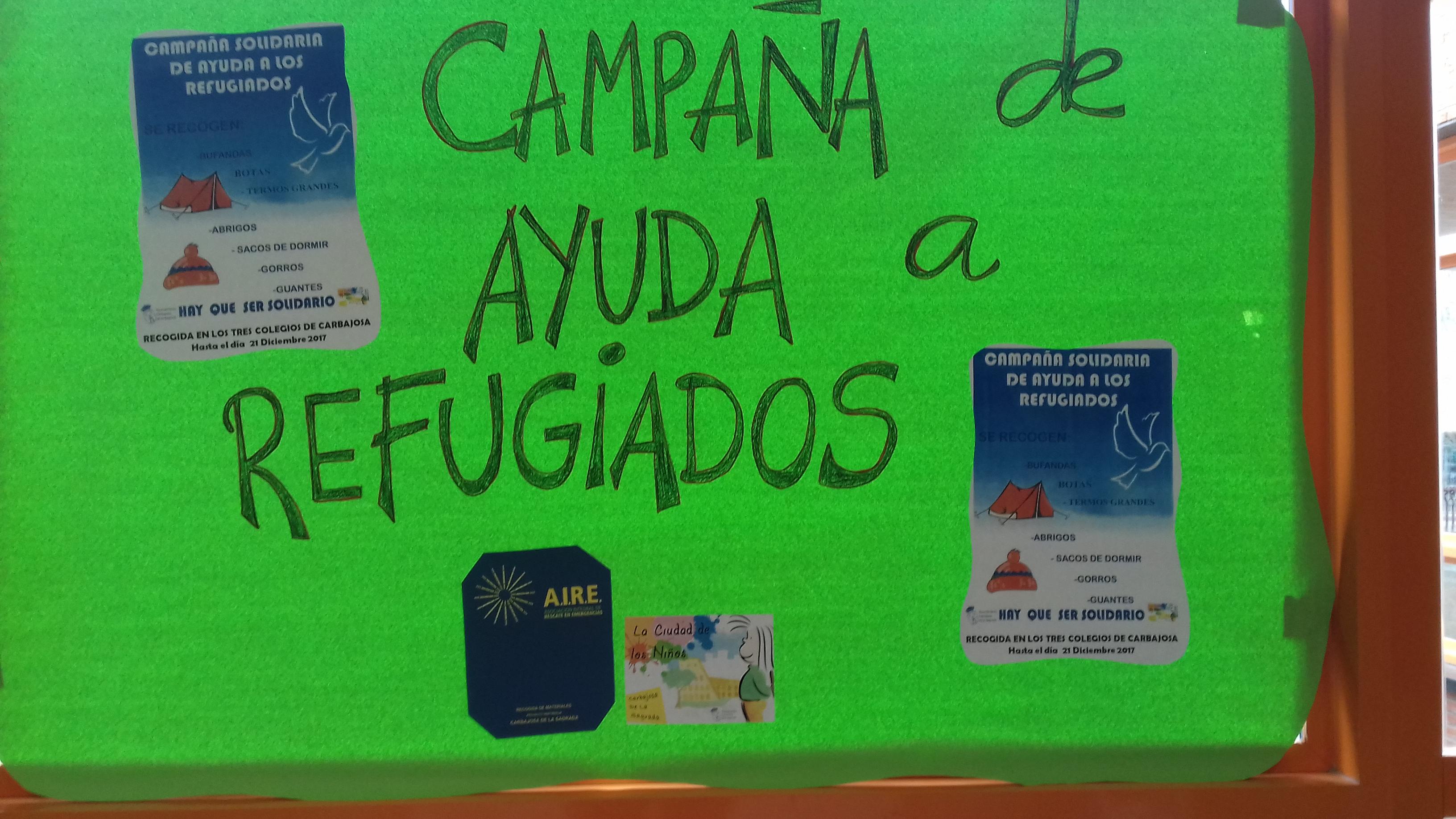 Diciembre. CAMPAÑA de Recogida de Ropa para Refugiados