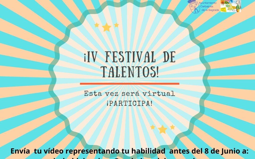 ¿¿¿PARTICIPAS???? IV FESTIVAL DE TALENTOS