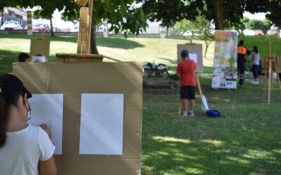 Pintura al aire libre con Caballete.