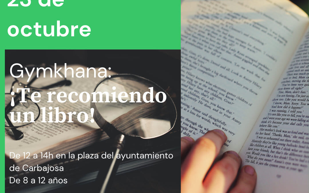 ¡APUNTATE, TE ESPERAMOS! 23 de octubre de 12 a 14h  en la Plaza del Ayuntamiento. De 8 a 12 años
